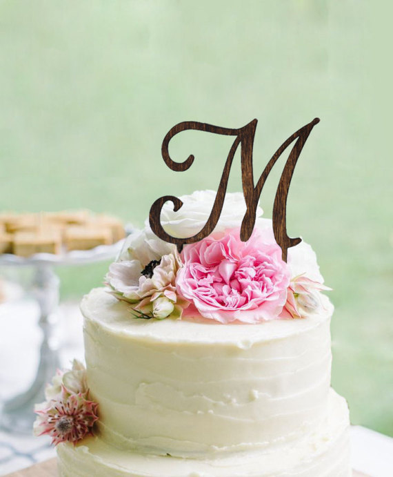 Personalized Monogram Cake Topper
