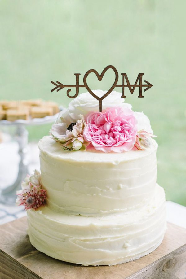 Wedding Arrow Cake Topper