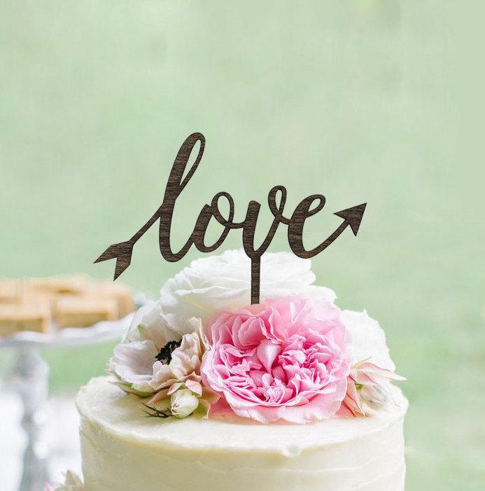 Love Arrow Cake Topper
